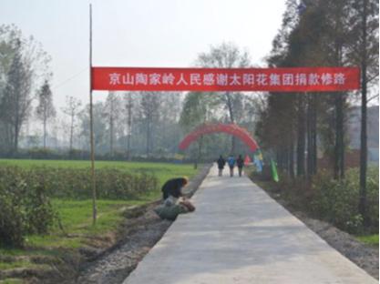 太阳花捐资湖北京山 用爱心铺就温暖大道