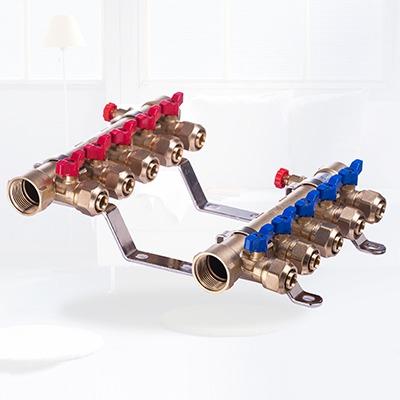 一体锻造手动控制型分集水器T-01
