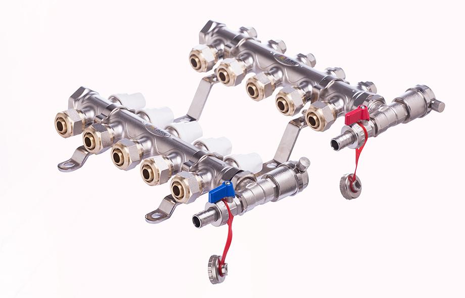 一体锻造手动控制型分集水器Y-02